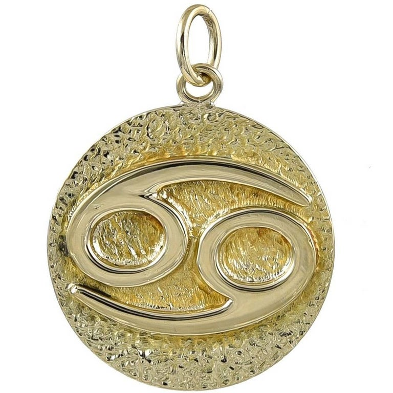 Tiffany & Co. Gold Zodiac Cancer Pendant