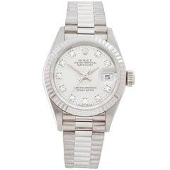 Rolex Datejust 18 Karat White Gold Ladies 69179