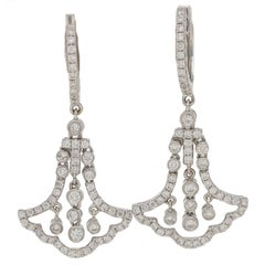 Deco Style Gold Diamond Drop Earrings