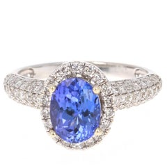 2.79 Carat Tanzanite Diamond Ring