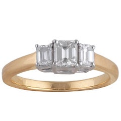 18 Carat Gold Diamond Three-Stone Ring