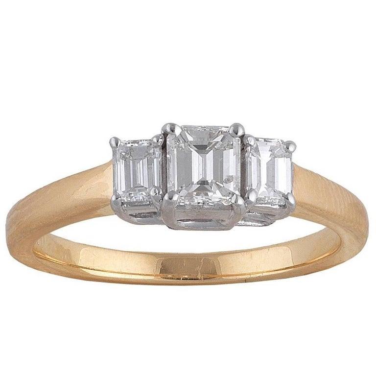 18 Carat Gold Diamond Three-Stone Ring