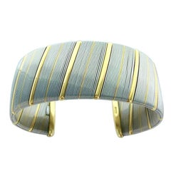 1970s Cartier Gold and Steel Bangle