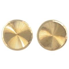 1960s French Retro 18 Karats Gold Cufflinks