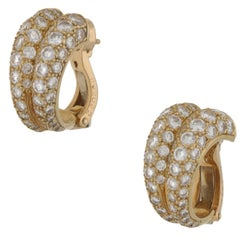 Cartier Diamond Double Hoop Earrings