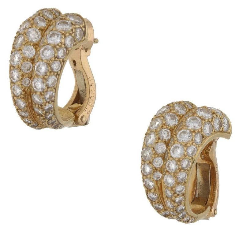 Cartier Diamond Double Hoop Earrings