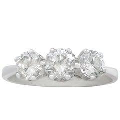 1970s Diamond White Gold Trilogy Ring