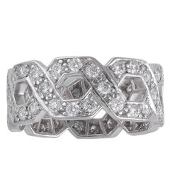 Tiffany & Co. Hexagonal Link Diamond Band
