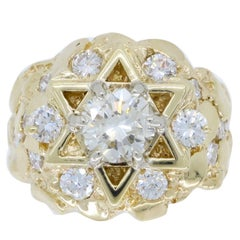 Star of David Men's Diamond Ring