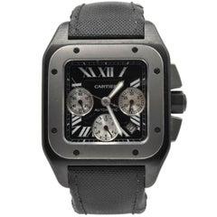 Cartier Titanium Stainless Steel Santos 100 Chronograph Automatic Wristwatch