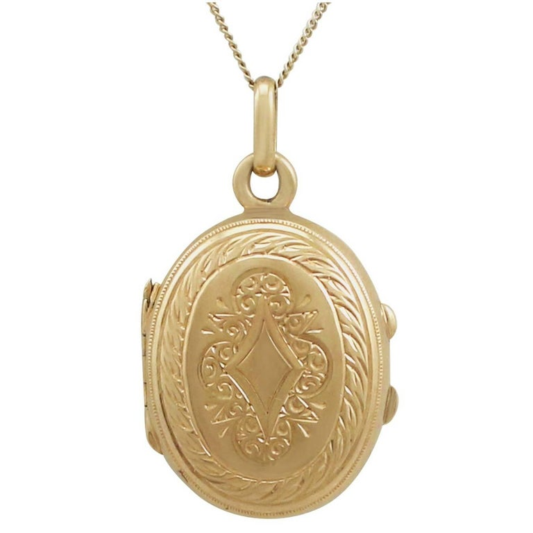 1890s Antique French Yellow Gold Locket