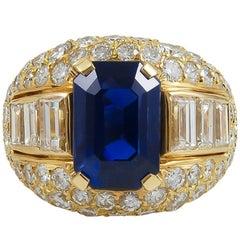 Bulgari Ceylon No-Heat Sapphire Diamond Ring