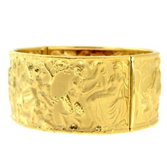 Carrera y Carrera Erotic 18 Karat Yellow Gold Wide Bangle