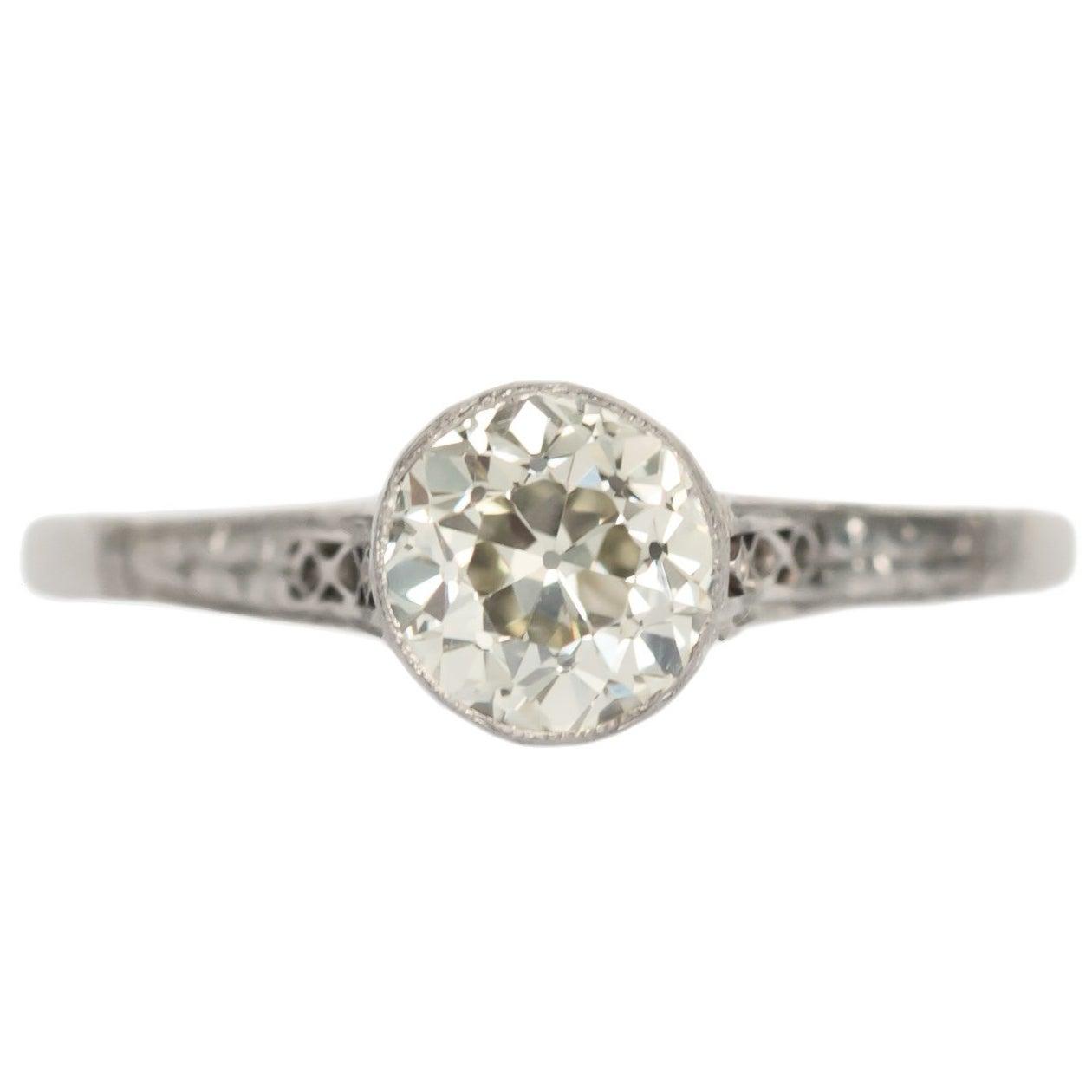 1.01 Carat Diamond Platinum Engagement Ring