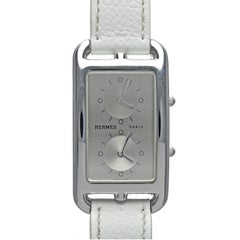 Hermes Stainless Steel Dual Time-Zone Cape Cod Wristwatch