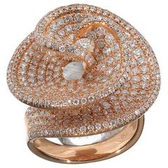Diamond Gold Vortex Ring