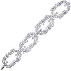 Belle Epoque CARTIER Paris Diamond Platinum Garland Bracelet