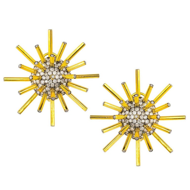 Gold and Diamond Meteor Earring by Umrao