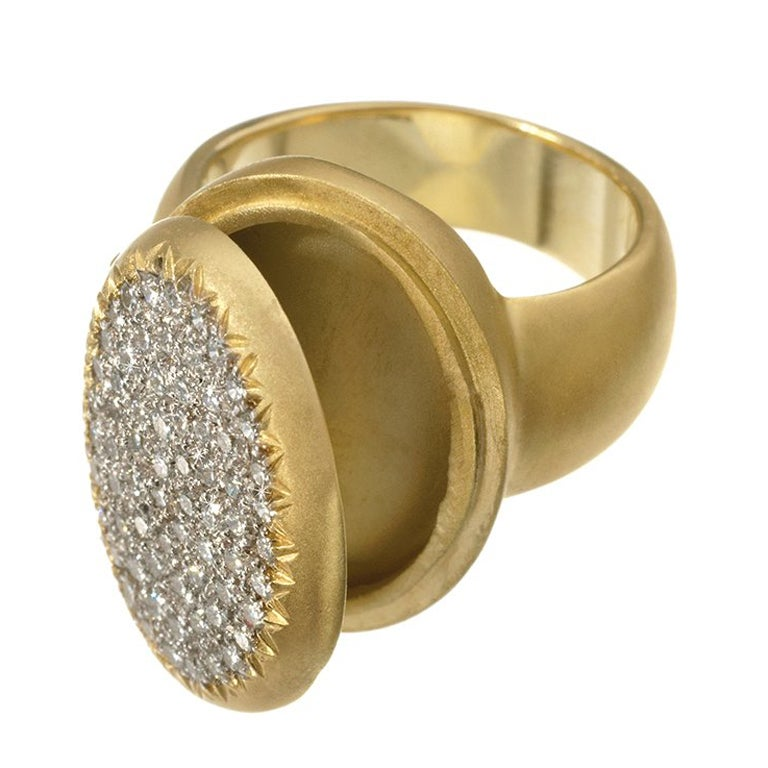 """Wendy Brandes Signed """"Borgia Poison"""" Keepsake Diamond Ring"""