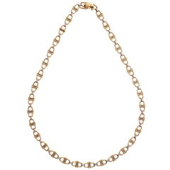 Cartier Vintage Equestrian Theme Gold Chain Necklace
