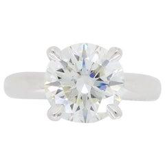 Ritani GIA Certified 2.04 Carat Round Brilliant Cut Diamond Engagement Ring