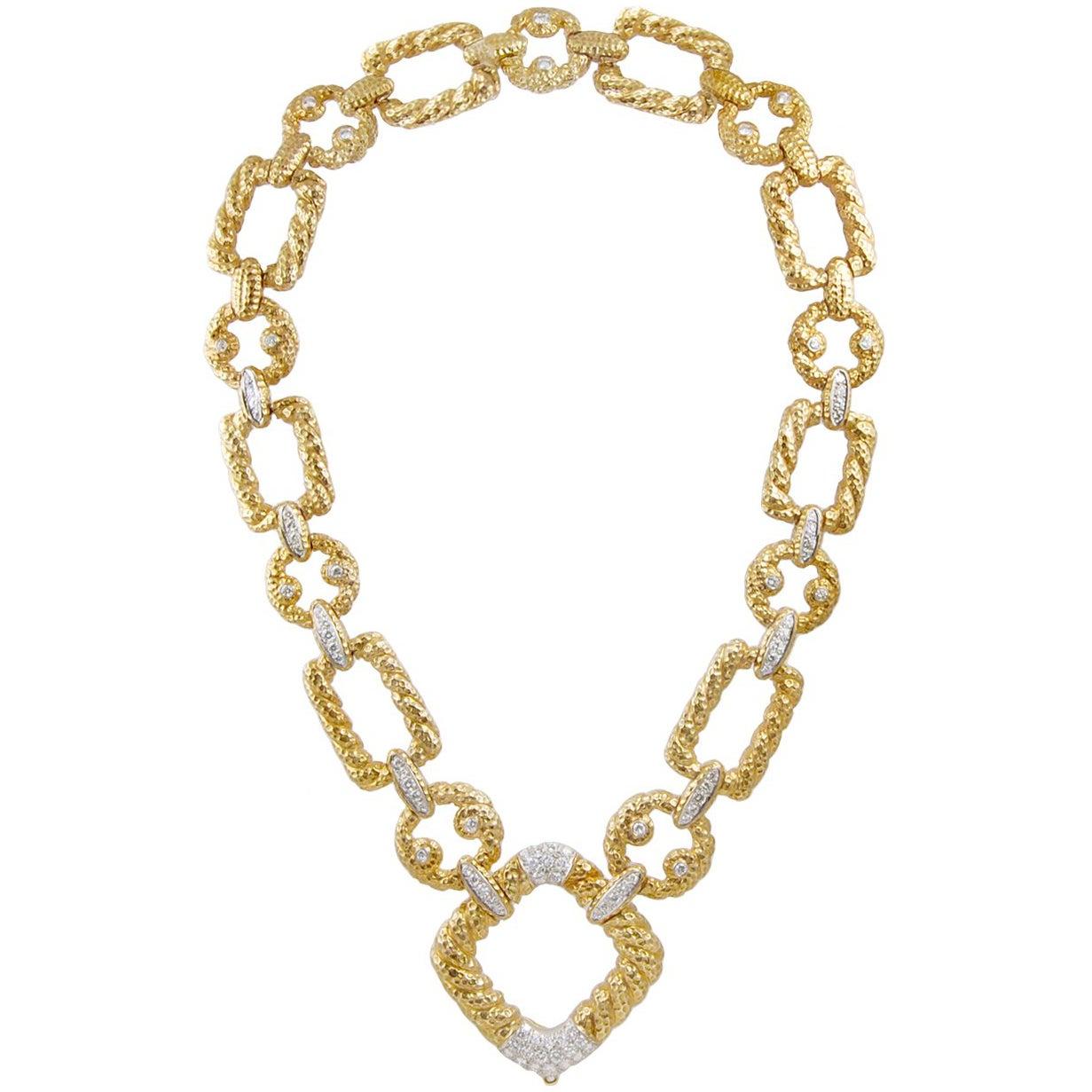 Van Cleef & Arpels Diamond Link Necklace
