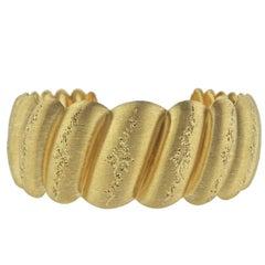 Buccellati Wide Yellow Gold Cuff Bracelet