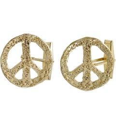 Gold Peace Cufflinks
