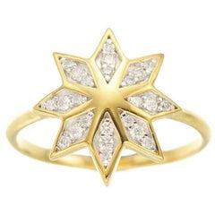 Zoe & Morgan Lakshmi Flower Yellow Gold Diamond Ring