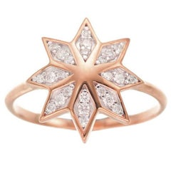 Zoe & Morgan Lakshmi Flower Rose Gold Diamond Ring