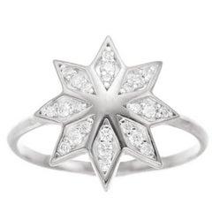 Zoe & Morgan Lakshmi Flower White Gold Diamond Ring