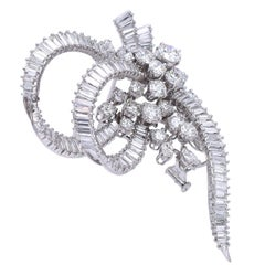 Platinum and Diamond Brooch, France
