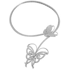 Van Cleef & Arpels Diamond Flying Butterfly Necklace