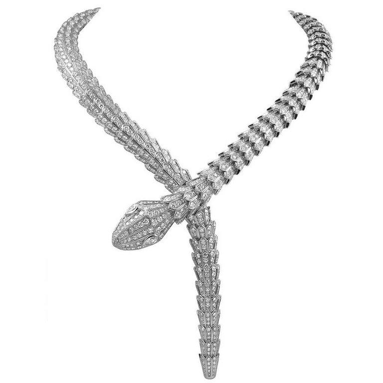 Bulgari Diamond Serpenti Gold Necklace