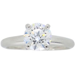 AGS Ideal Cut Round Brilliant Cut Diamond Engagement Ring