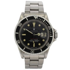 Rolex Stainless Steel Big Red 1680 Submariner Wristwatch, 1979