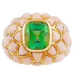 Van Cleef & Arpels Angel Skin Coral, Peridot Ring