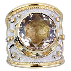 Georgios Collections 18 Karat Yellow and White Gold Ring with 8.41 Carat Quartz
