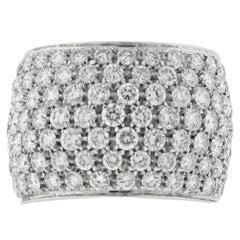 Damiani 18 Karat White Gold Diamond Band 3.25 Carat Total Weight