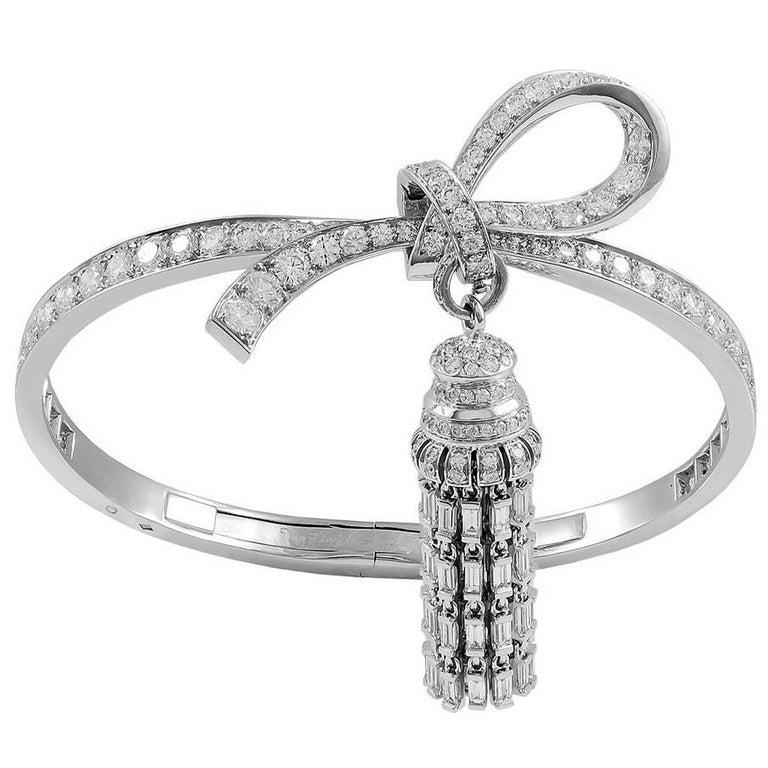 Van Cleef & Arpels Diamond Tassel Bangle