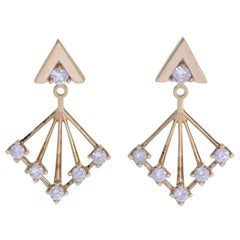 Zoe & Morgan Shine Yellow Gold Diamond Earrings