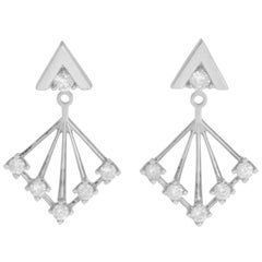 Zoe & Morgan Shine White Gold Diamond Earrings
