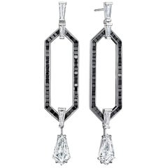 Doryn Wallach 6.53 Carat Kite Diamond Statement Earrings