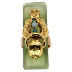 Jade 9 Carat Yellow Gold Cocktail Ring