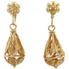 Victorian Yellow Gold Drop Earrings