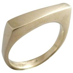 Betty Cooke White Gold Gentleman's Streamline Modern Wedding Ring
