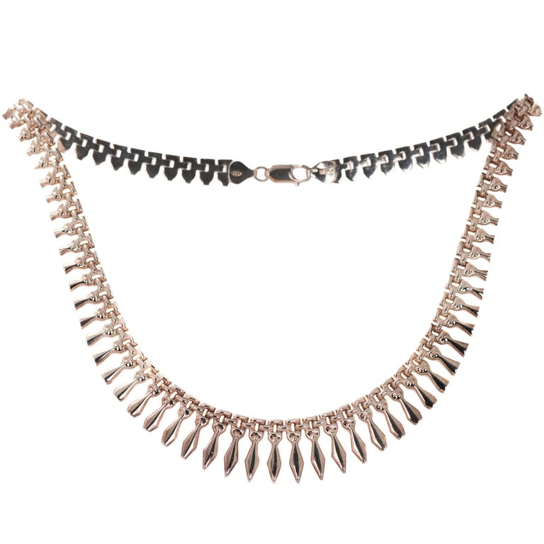 Sterling Silver Cleopatra Princess Necklace