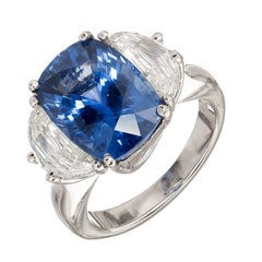 Peter Suchy 7.15 Carat Ceylon Sapphire Diamond Platinum Engagement Ring