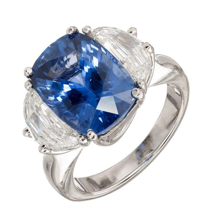 Peter Suchy 7.15 Carat Ceylon Sapphire Diamond Platinum Engagement Ring