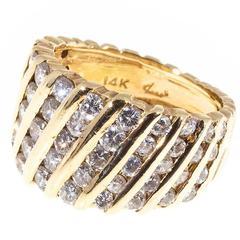 Diamond Gold Channel Set Ring